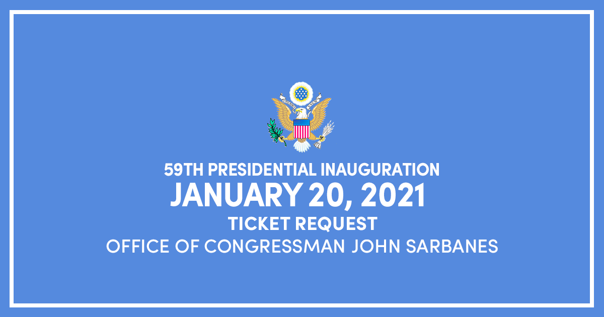 59th Presidential Inauguration: Ticket Request Form ...